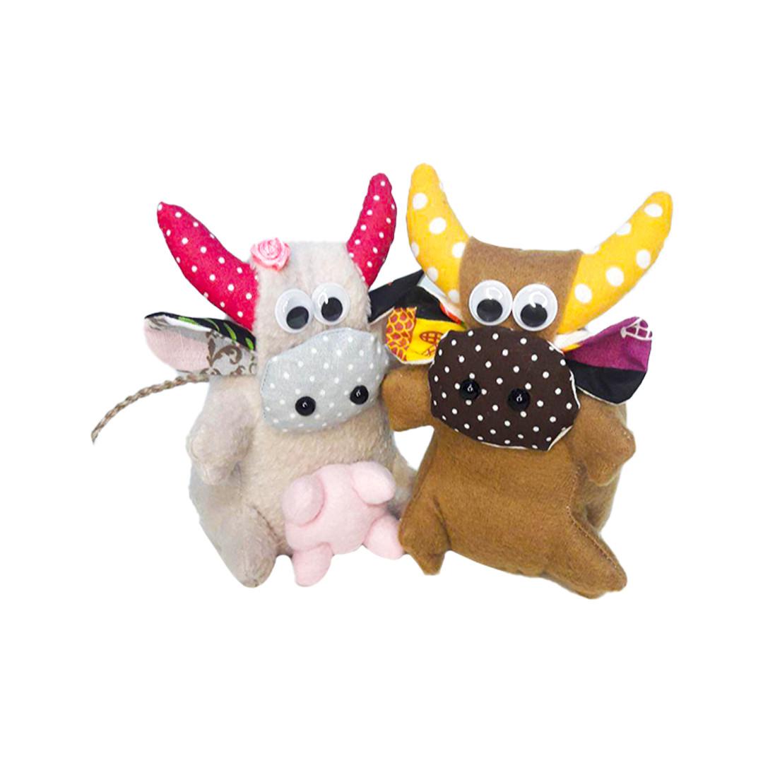 Іграшка підвіска пара бичків Леся і Рома