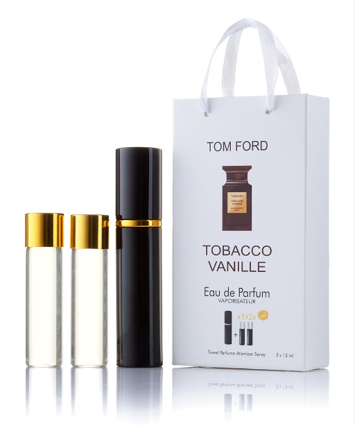 Подарочный парфюмерный набор с феромонами унисекс Tom Ford Tobacco Vanille 3х15 мл