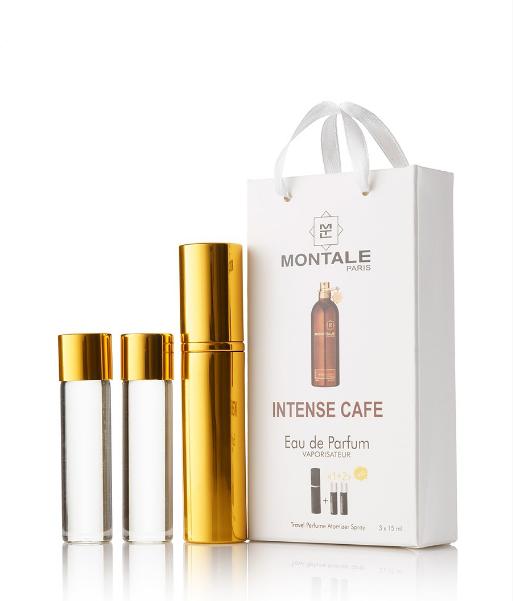 Подарочный парфюмерный набор с феромонами унисекс Montale Intense Cafe 3х15 мл
