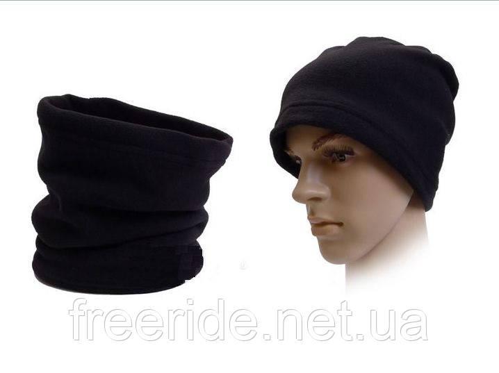 Зимний бафф флис шарф-труба (#585) однослойный