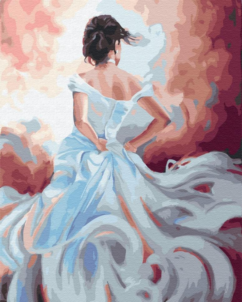 "Картина по номерам. Brushme ""Дама ветров"" GX34007"