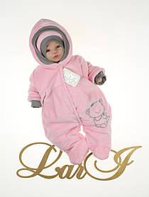 """Теплый комбинезон с шапочкой для новорожденных """"Маленькая Принцесса"""""""