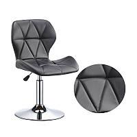 Кресло из эко-кожи Invar CH - Base на круглой основе регулируемое, для салонов красоты, барбершопов