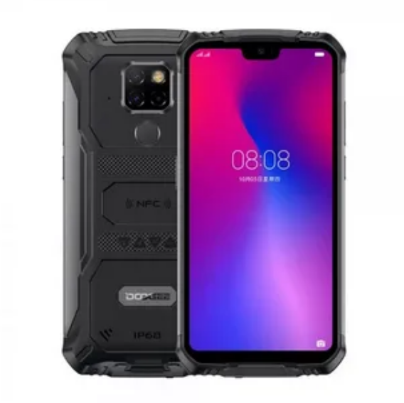 Смартфон водозащищенный, ударопрочный с большим дисплеем и отпечатком пальца Doogee S68 Pro black 6/128