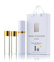 Подарочный парфюмерный набор с феромонами женский Angel Schlesser Femme (Ангел Шлессер Фемм) 3x15 мл