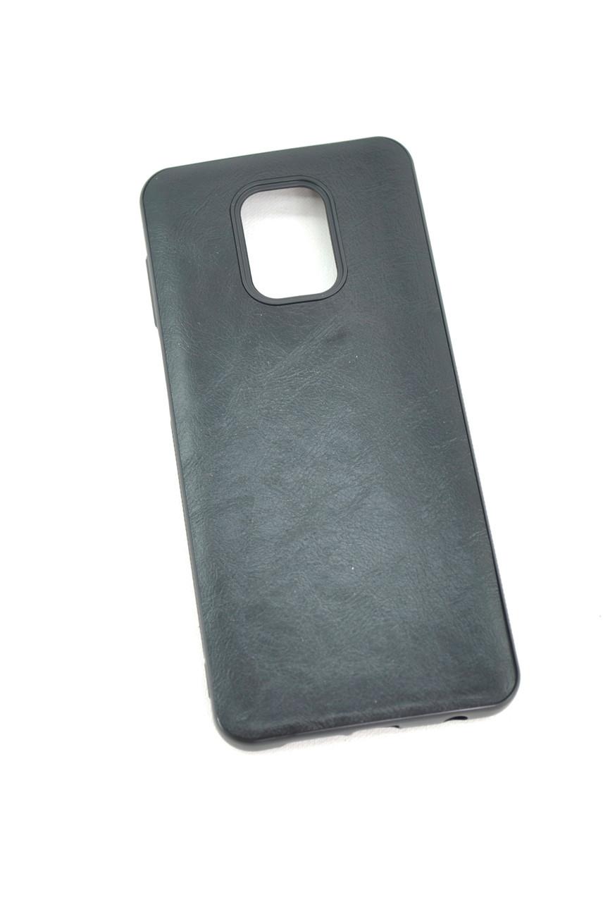Чехол Xiaomi Redmi 9 Silicon VESTA Leather Black (P1)