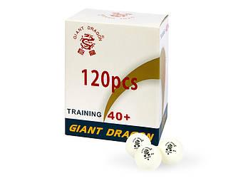 М'ячі для настільного тенісу Giant Dragon Training Silver 40+ 1зв 120шт білі