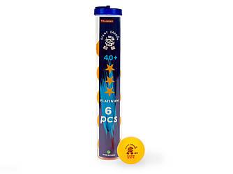 М'ячі для настільного тенісу Giant Dragon Training Platinum 40+ 3зв 6шт жовті