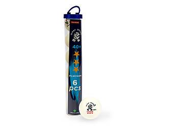 М'ячі для настільного тенісу Giant Dragon Training Platinum 40+ 3зв 6шт білі