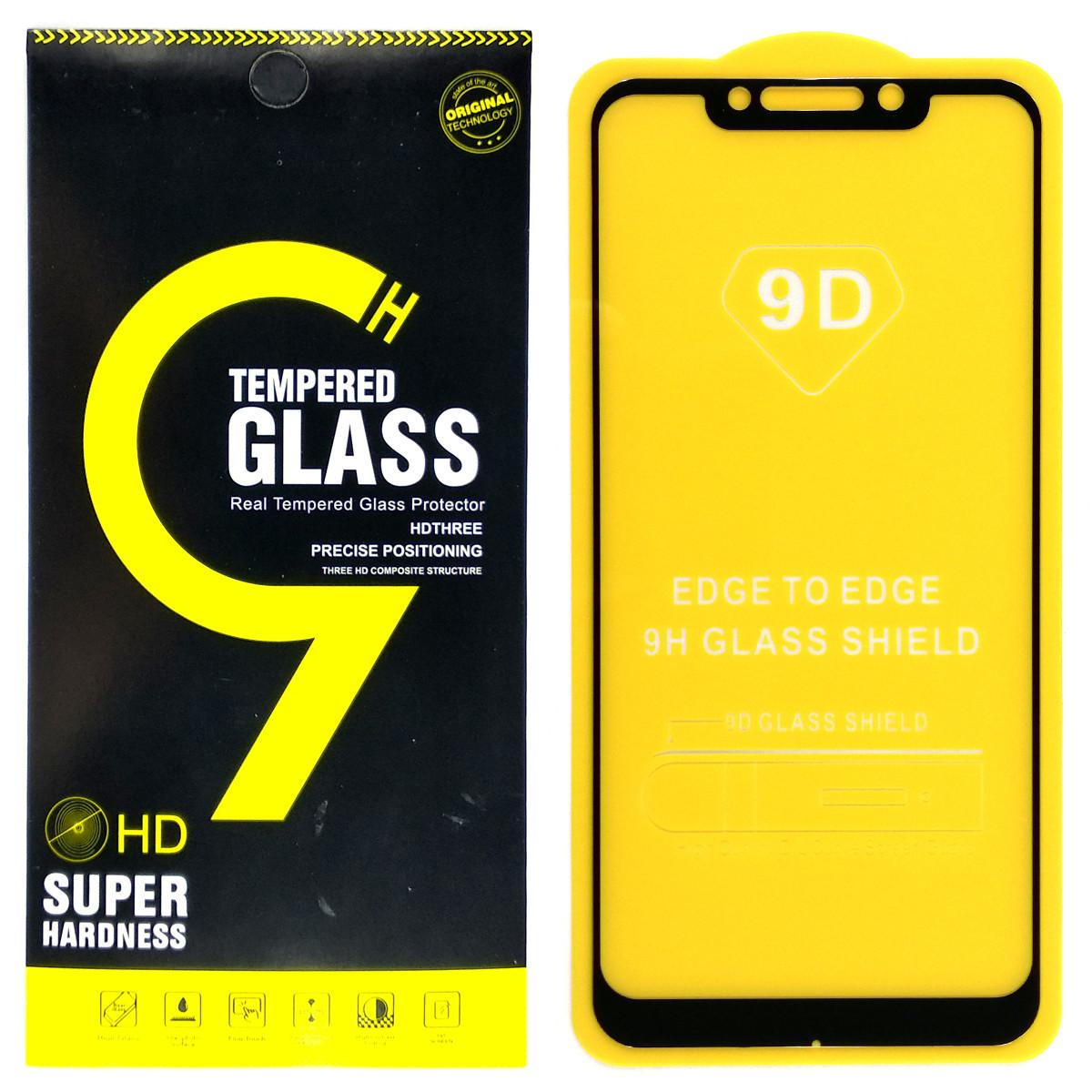 Защитное стекло 9D для Xiaomi Pocophone F1 (Black)