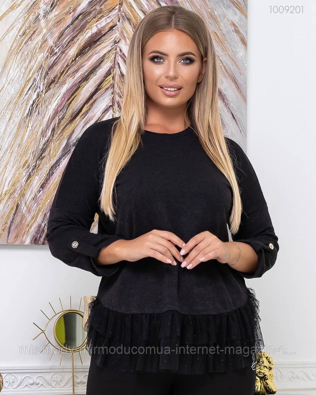 Стильний жіночий светр з вовни Кофру з 50 по 56 розмір (піо)