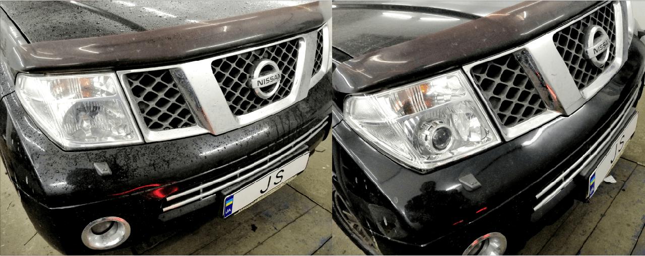 Установка линз Nissan Pathfinder