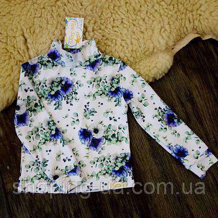 Детская водолазка - гольф синие цветочки Five Stars KD0382-140p, фото 2
