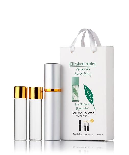 Подарочный парфюмерный набор с феромонами женский Elizabeth Arden Green Tea (Элизабет Арден Грин Ти) 3x15 мл