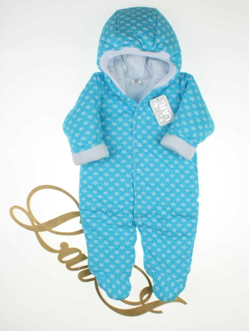 """Утепленный комбинезон для новорожденных мальчиков """"Комета"""" 68 размер"""