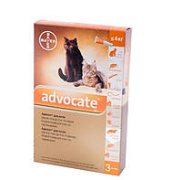 Капли Advocate для кошек до 4 кг 1 пипетка