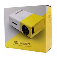 Проектор Led Projector YG300 (White Yellow) | Портативный мини проектор, фото 5
