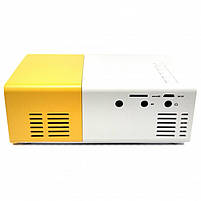 Проектор Led Projector YG300 (White Yellow) | Портативный мини проектор, фото 4