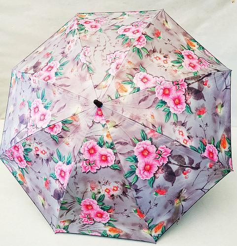 Зонт трость женский полуавтомат на 8 спиц. Цветной