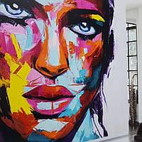 Фотообои  водостойкие Bali painting абстракция разные цвета лицо женщины