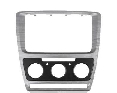 Рамка переходная 781-08-105 Skoda Octavia 2008-2013 (Manual Air-Cond) Grey-HQ