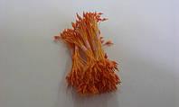 Тычинки оранжевые  кругло-острые на оранжевой нитке 25шт.(код 01551)
