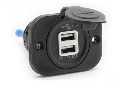 Разветвитель USB Carav 17-002 5v 3.1A (2 порта)