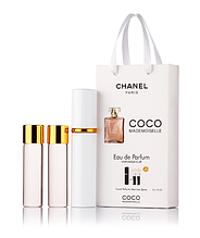 Подарочный парфюмерный набор с феромонами женский Chanel Coco Mademoiselle (Шанель Коко Мадмуазель) 3x15 мл