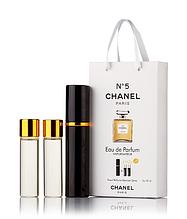 Подарочный парфюмерный набор с феромонами женский CHANEL №5 (Шанель №5) 3x15 мл