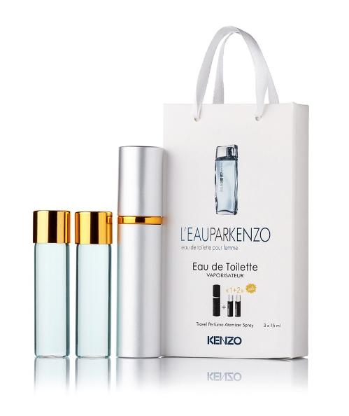 Подарочный парфюмерный набор с феромонами женский Kenzo Leau par Kenzo (Кезо Ле Па Кензо) 3x15 мл
