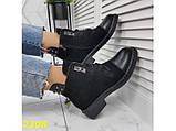 Ботинки деми на низком каблуке на шнуровке К2308, фото 4