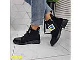 Ботинки деми на низком каблуке на шнуровке К2308, фото 5