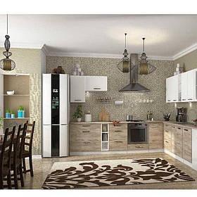 Кухня кутова «Шарлотта» | колір: дуб крафт сірий/білий Sokme