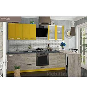 Кухня «Шарлотта» | колір: дуб крафт сірий/жовтий Sokme