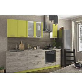 Кухня «Шарлотта» | колір: дуб крафт сірий/лайм Sokme