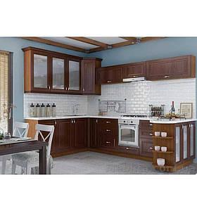 Кухня угловая «СОФИЯ» | фасад Клаccический | цвет:  шпон орех темный Sokme