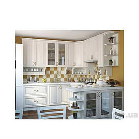 Кухня кутова «СОФІЯ» | фасад Класичний | колір: білий шпон Sokme