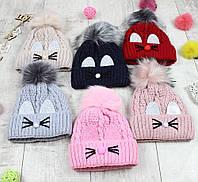 """Детсике шапки зимові для дівчинки """"Вушка"""", фото 1"""