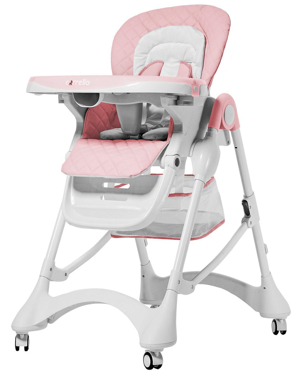 Детский стульчик для кормления со съемным подносом CARRELLO Caramel CRL-9501/3 Candy Pink, розовый