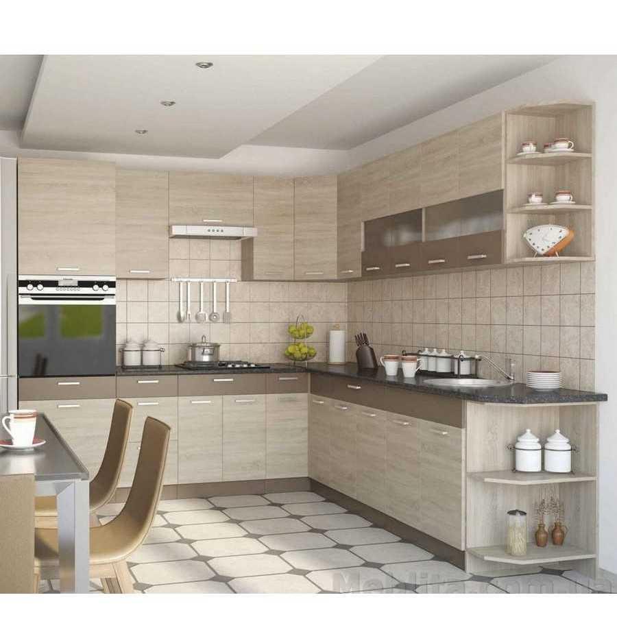 Кухня угловая «Алина» | цвет: дуб сонома/мокка Sokme