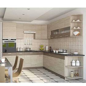 Кухня кутова «Аліна» | колір: дуб сонома/мокка Sokme