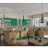 Кухня кутова «Шарлотта»   колір: дуб крафт золотий/абсент Sokme, фото 3