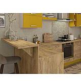 Кухня угловая «Шарлотта» | цвет: дуб крафт золотой/желтый Sokme, фото 2