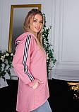 Розовая асимметричная толстовка с капюшоном, фото 3