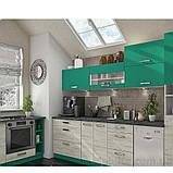 Кухня угловая «Шарлотта»   цвет: дуб крафт белый/абсент Sokme, фото 2