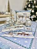 """Наперон\доріжка на стіл """"Полярна зірка"""", 45х140 див. люрекс, фото 3"""