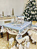 "Наперон\дорожка на стол  ""Полярная звезда"", 45х140 см. люрекс, фото 4"