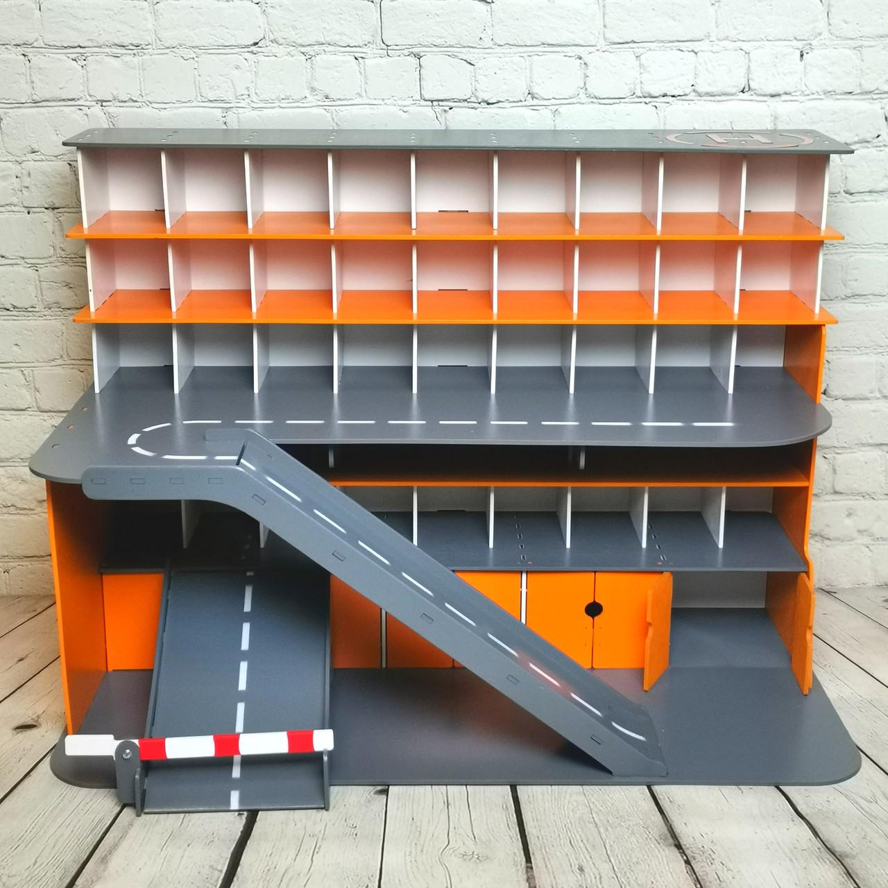 """Гараж Woodmax """"Nine""""  68х38х48 см серо-оранжевый"""