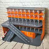 """Гараж Woodmax """"Nine""""  68х38х48 см серо-оранжевый, фото 3"""