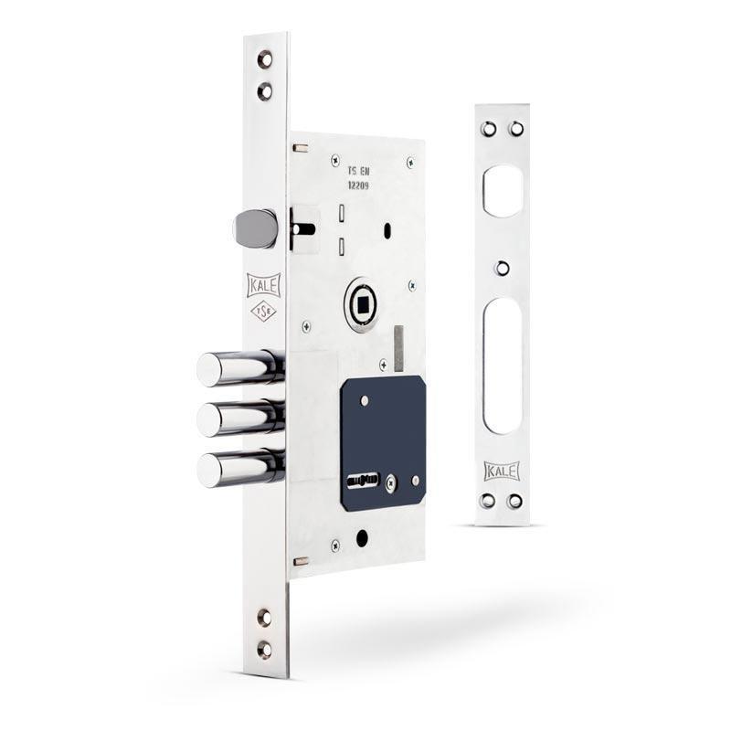 Замки для дверей врезной KALE 252 RL без планки бексет 60 mm  Никель